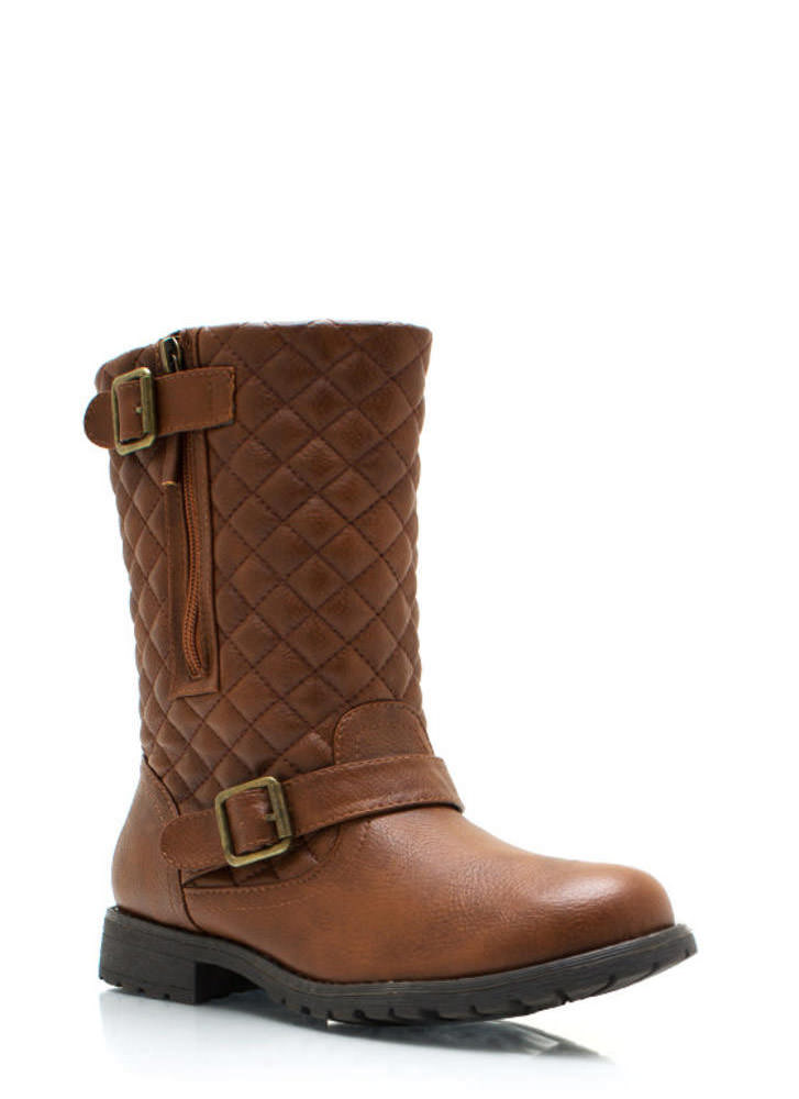 Quite Quilted Low Rise Boots CHESTNUT (Final Sale)