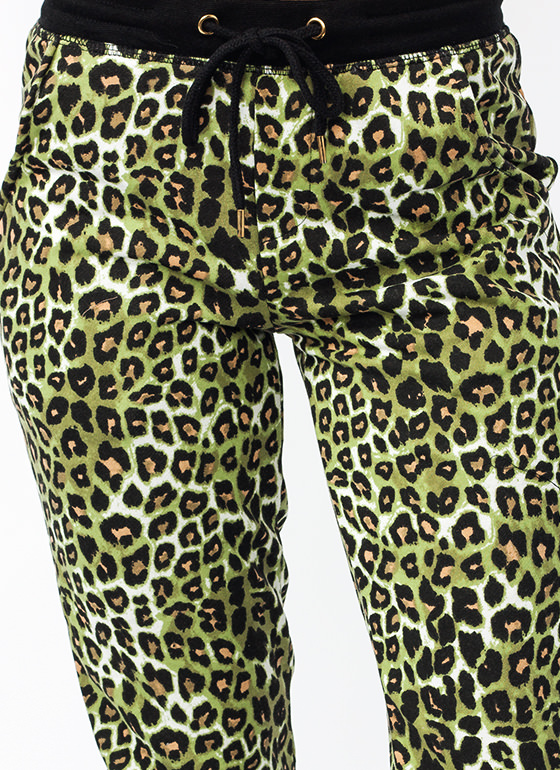 Lady Leopard Sweatpants GREENLEO