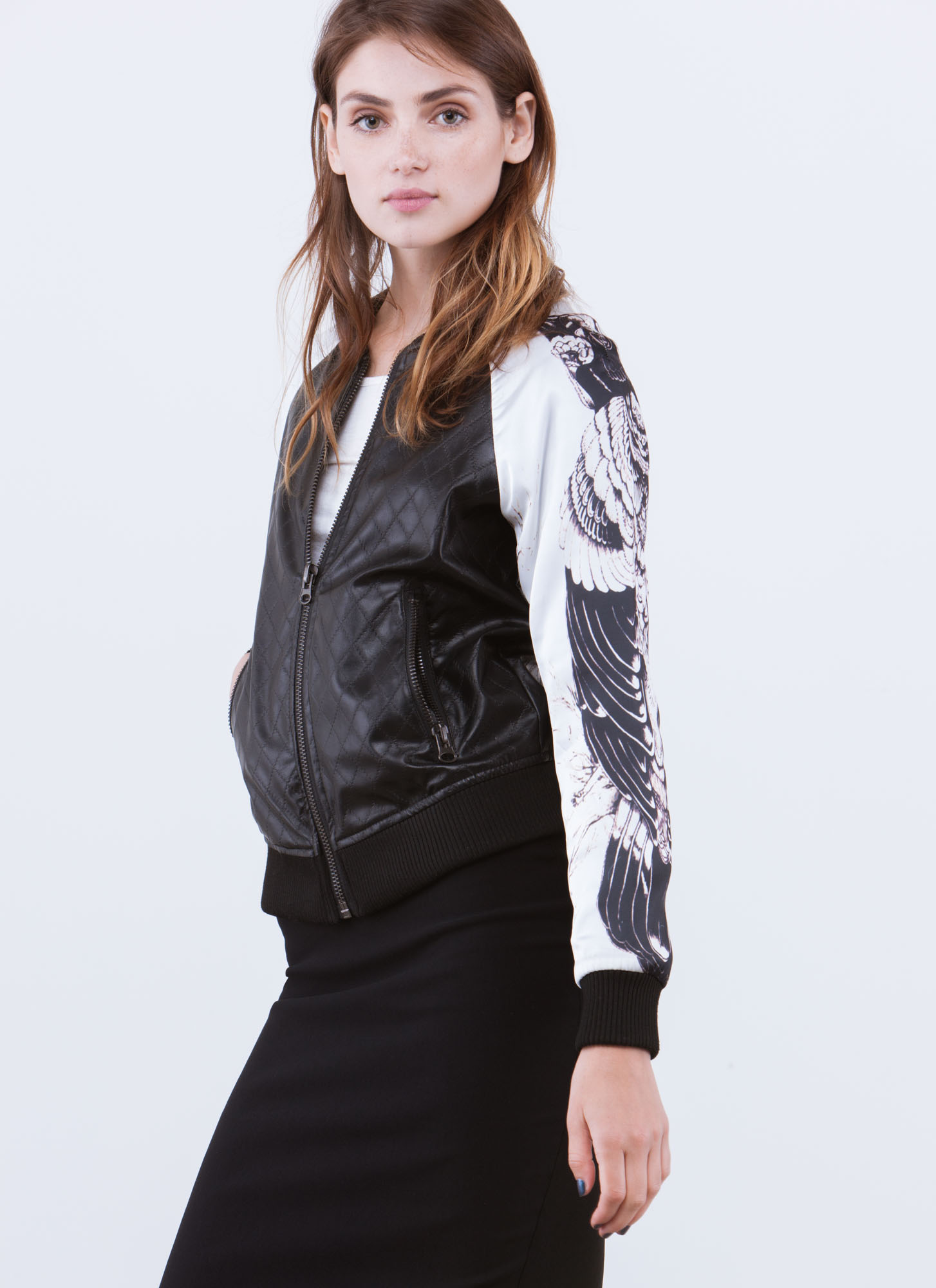 Birds Of Prey Bomber Jacket BLACK