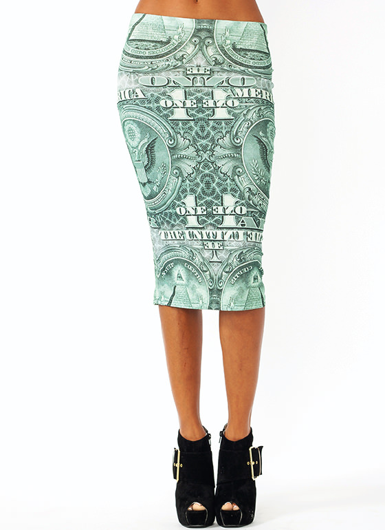 One Buck Midi Skirt GREEN