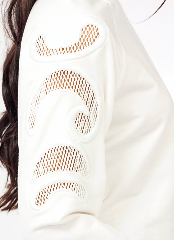 Filigree Net Sweatshirt IVORY