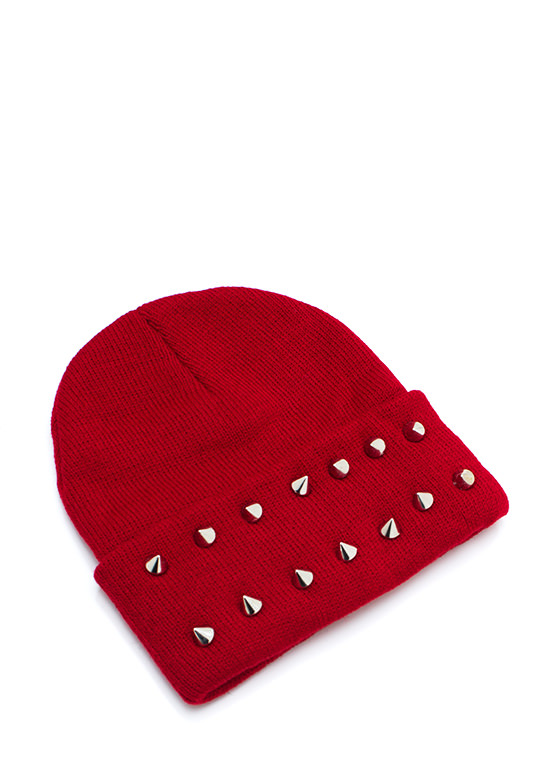 So Spiked Beanie BURGUNDY