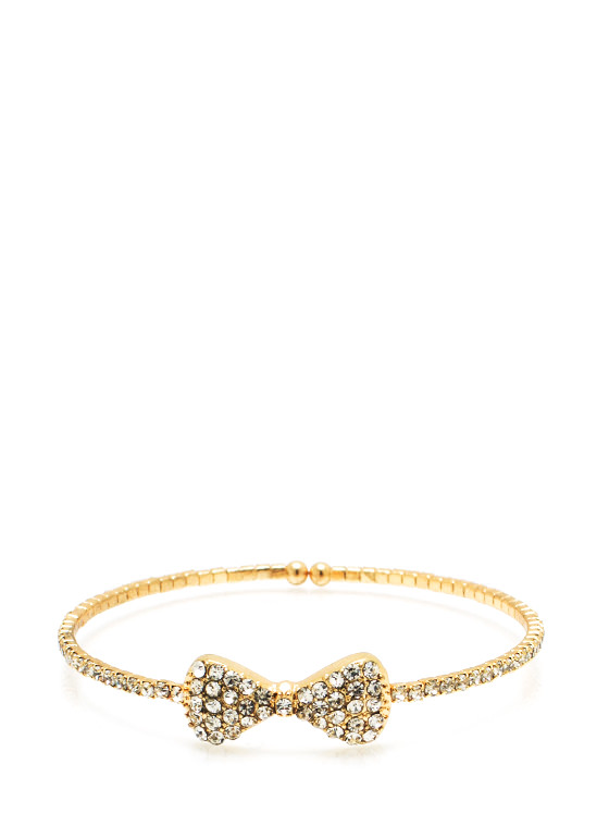 Bow Down Embellished Bracelet GOLD