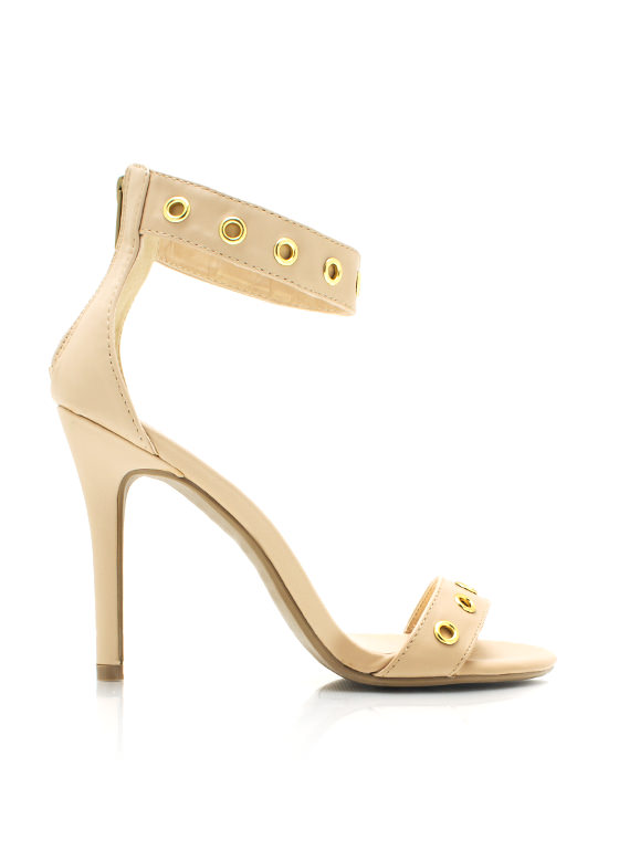 Hole In One Strappy Heels NUDE