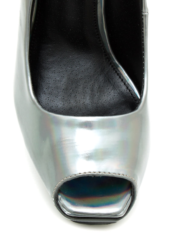 Psychedelic Hologram Pumps PEWTER