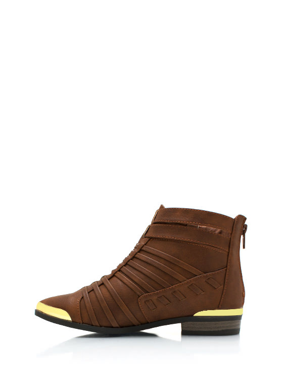 Its A Strap Ankle Boots COGNAC (Final Sale)