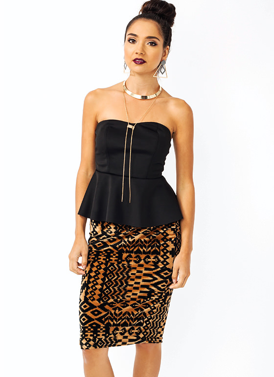 Get Peppy Strapless Top BLACK