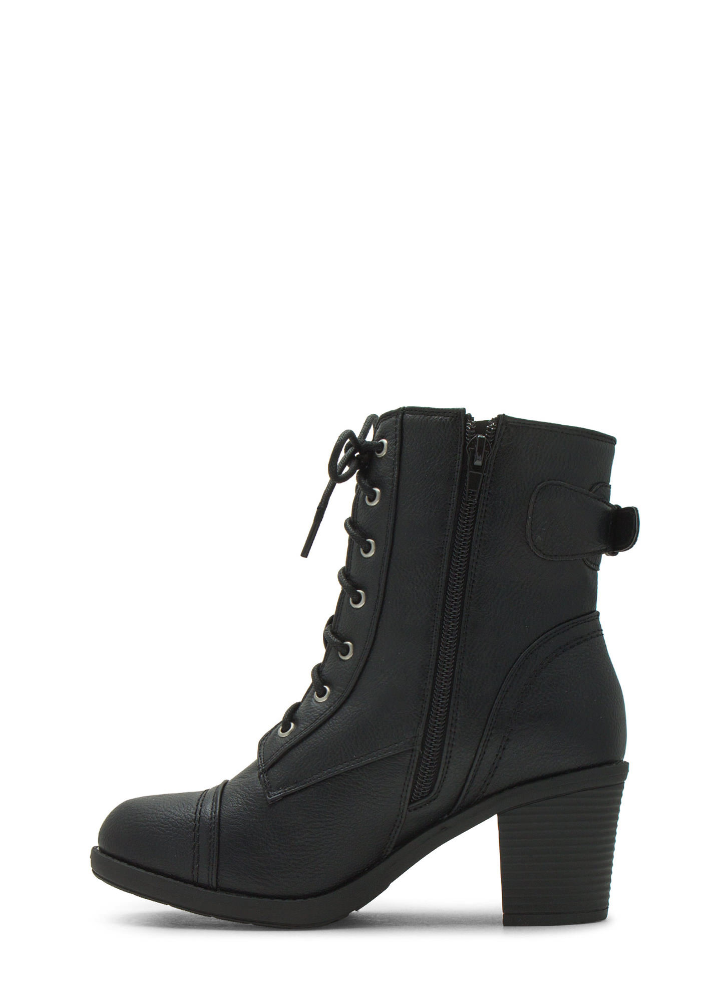 Lace Up Victorian Boots BLACK