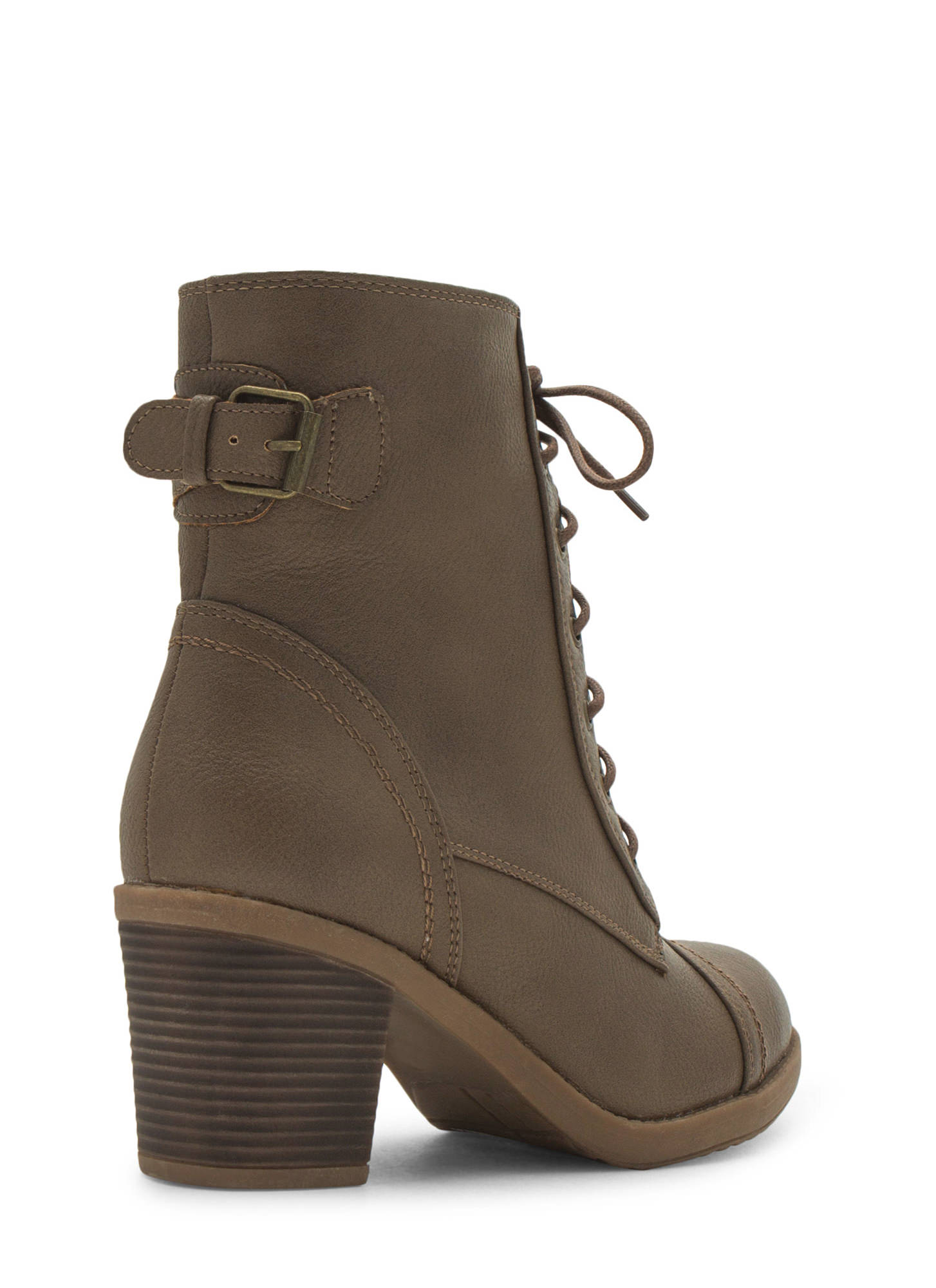 Lace Up Victorian Boots TAUPE