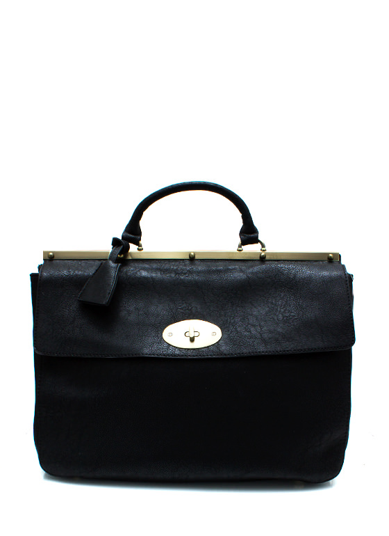 Going Faux Leather Handbag BLACKGOLD