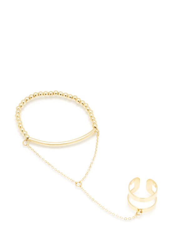 Simple N Chic Hand Bracelet GOLD