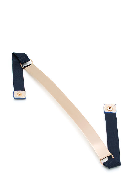 Metal Mania Stretch Belt NAVYGOLD