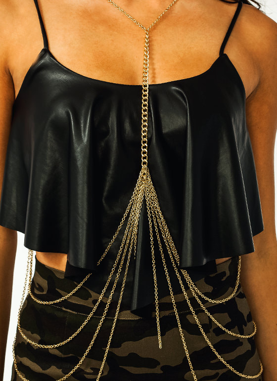 Wrapped Up Body Chain GOLD