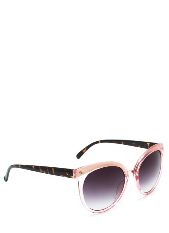 Wired In Cat Eye Sunglasses BLUSH