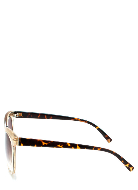 Wired In Cat Eye Sunglasses GOLD