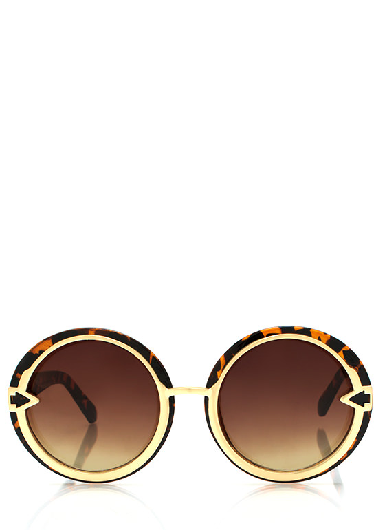 Metal In Round Sunglasses DKTORTGOLD