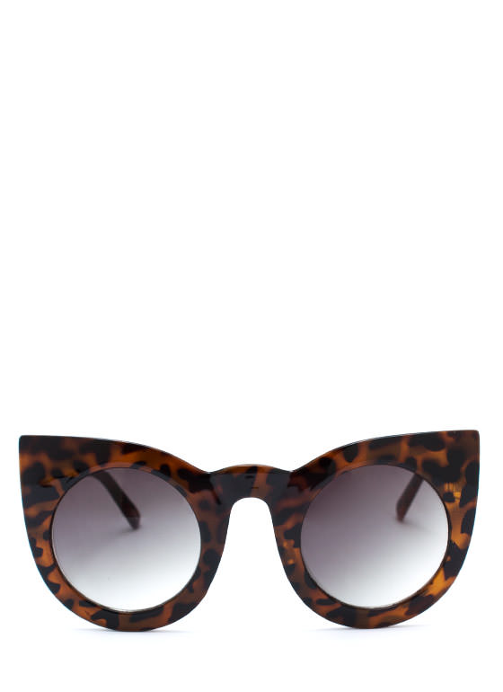 Round Kitty Cat Sunglasses TORTGREEN