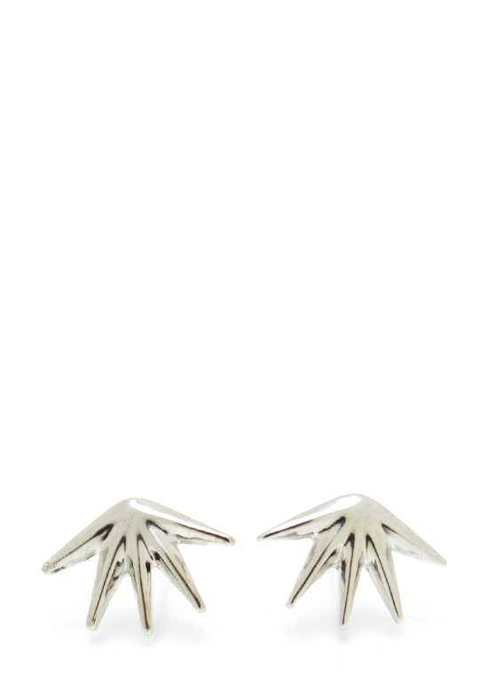 Double Threat Spiked Earrings GOLDSILVER