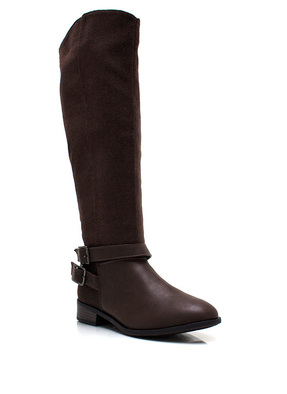 Felted Riding Boots BROWN