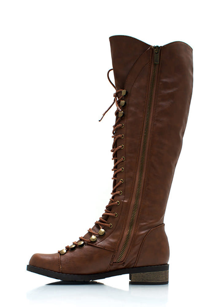 Explorer Lace Up Boots CHESTNUT