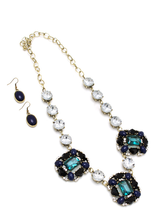 Vintage Jewel Necklace Set GOLDNAVY