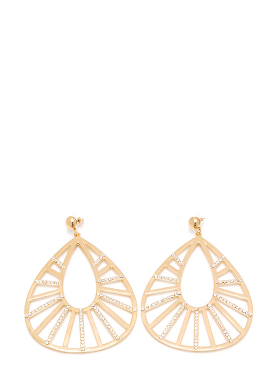 Teardrop It Low Oversized Earrings GOLD