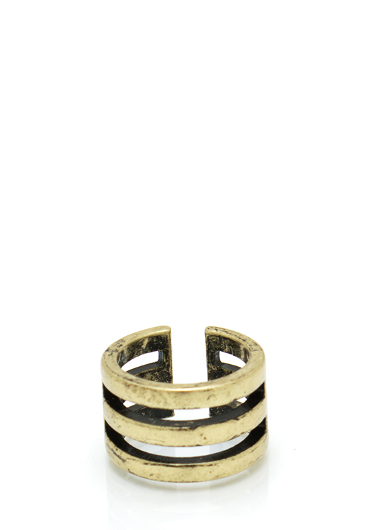 Triple Stacked Midi Ring DKGOLD
