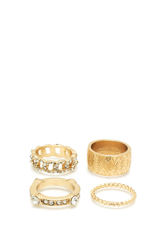 Diamond Diva Ring Set GOLD