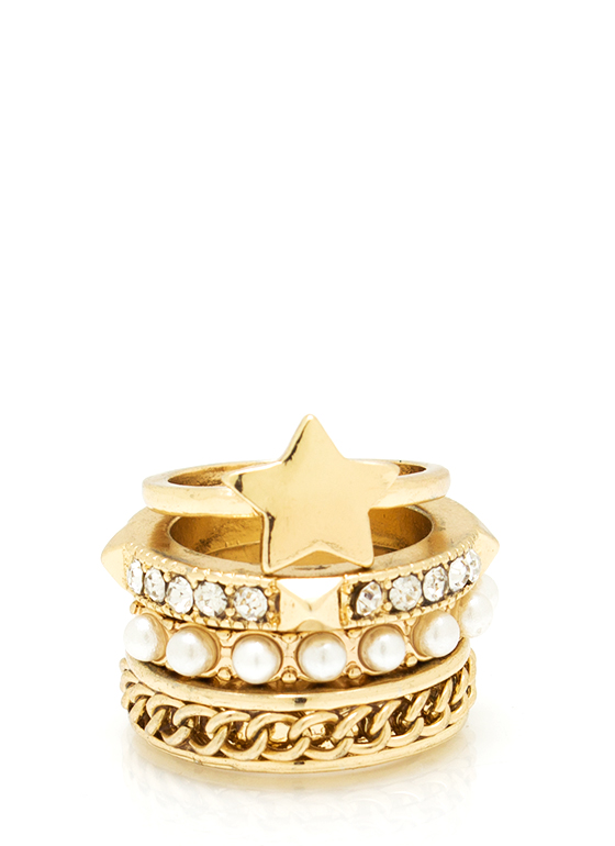 Twinkling Star Ring Set GOLD