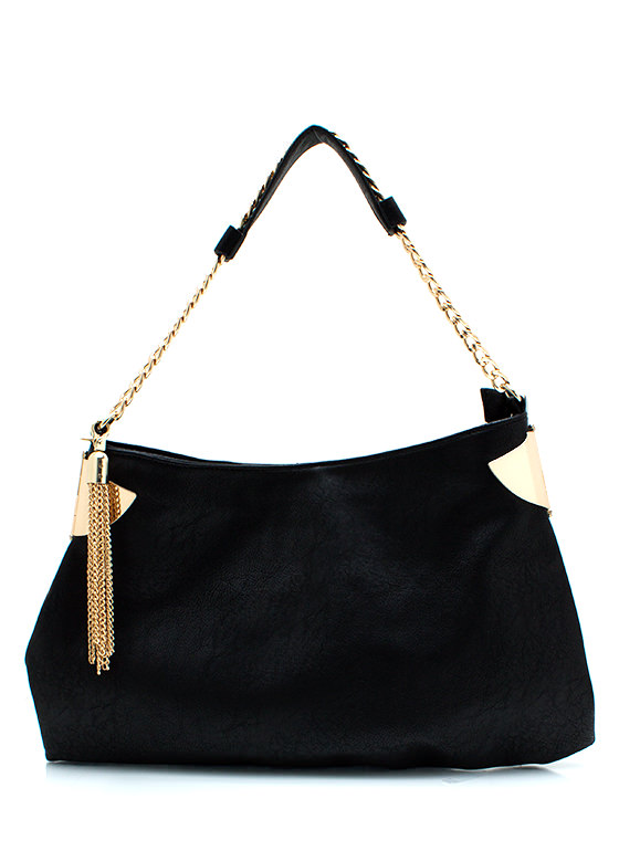 Got Any Chain Ge Handbag BLACKGOLD