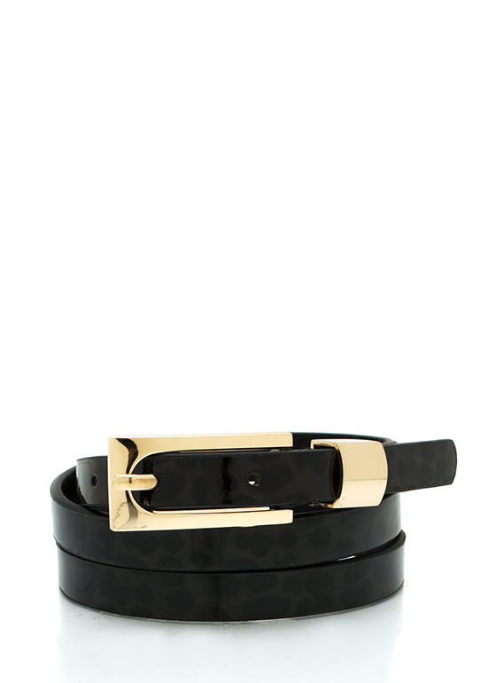 Feeling Skinny Buckle Belt BLACKGOLD