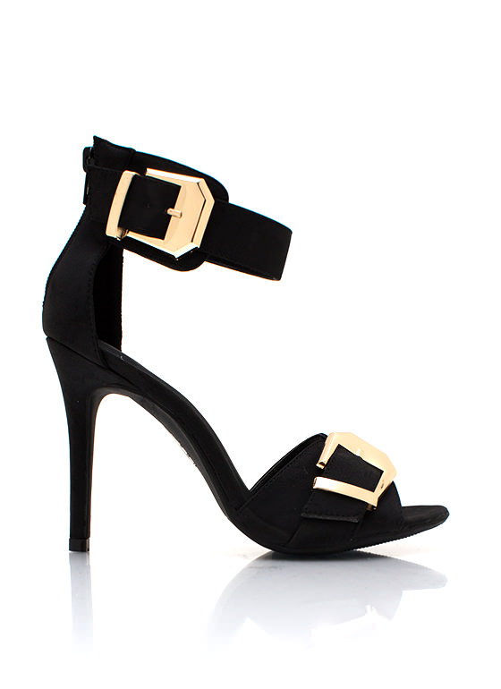 Double The Fun Heels BLACK
