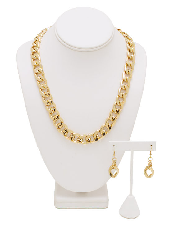 Sweet 'N Simple Chain Necklace Set GOLD