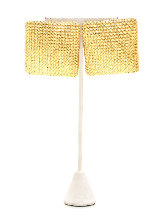 Textured Waffle Earrings GOLD