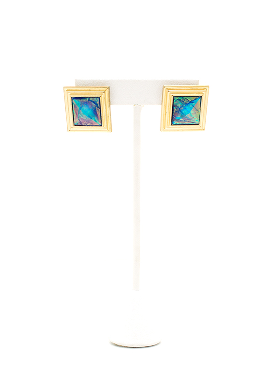 Psychedelic Square Earrings BLUEGOLD