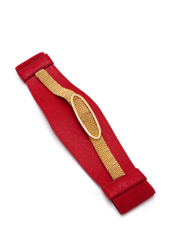 All Oval You Belt REDGOLD