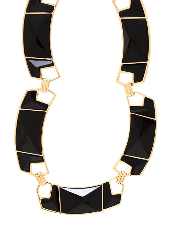 Covered In Jewels Necklace Set BLACKGOLD