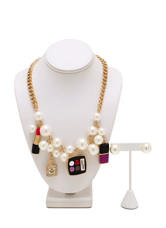 Beauty Queen Pearl Necklace Set GOLDIVORY