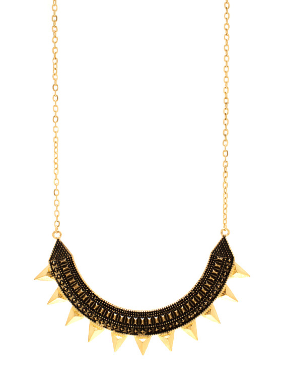 Playing In Pyramids Necklace Set GOLD