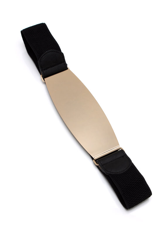 Metal Of Honor Plate Belt BLACKGOLD