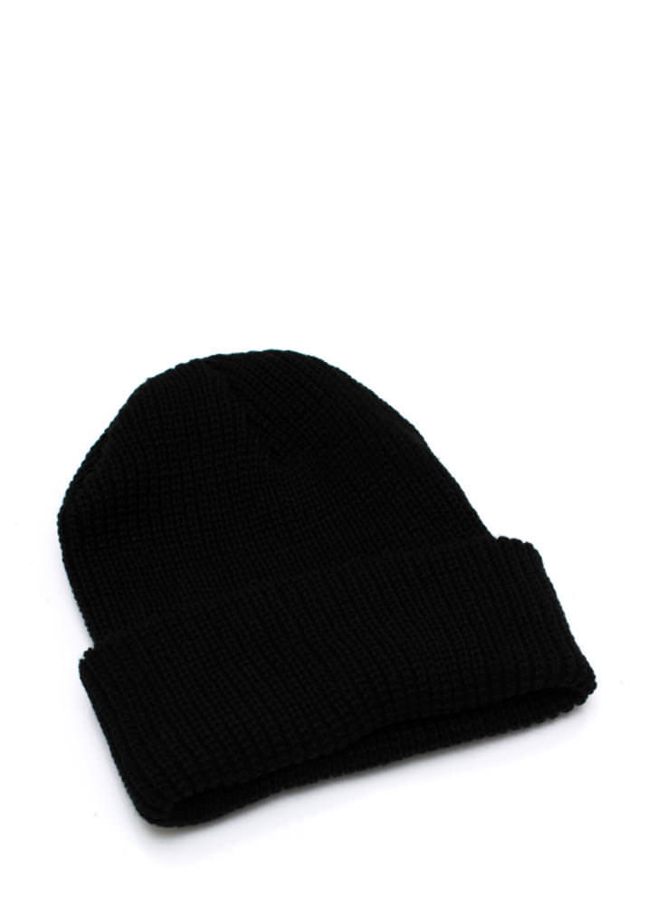 Knit Picky Beanie BLACK