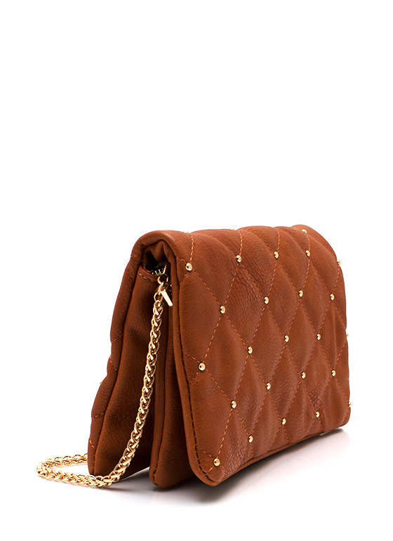 Little Things Studded Quilted Clutch TANGOLD