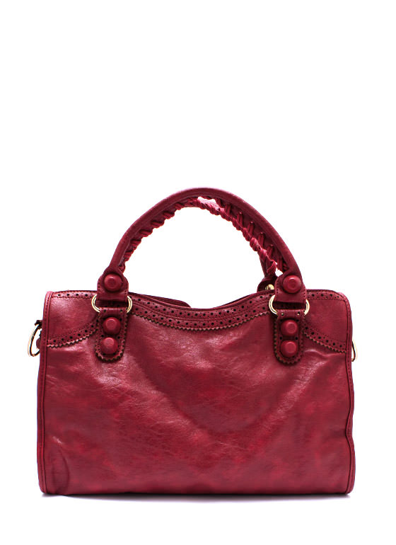 Perfectly Perforated Handbag REDGOLD