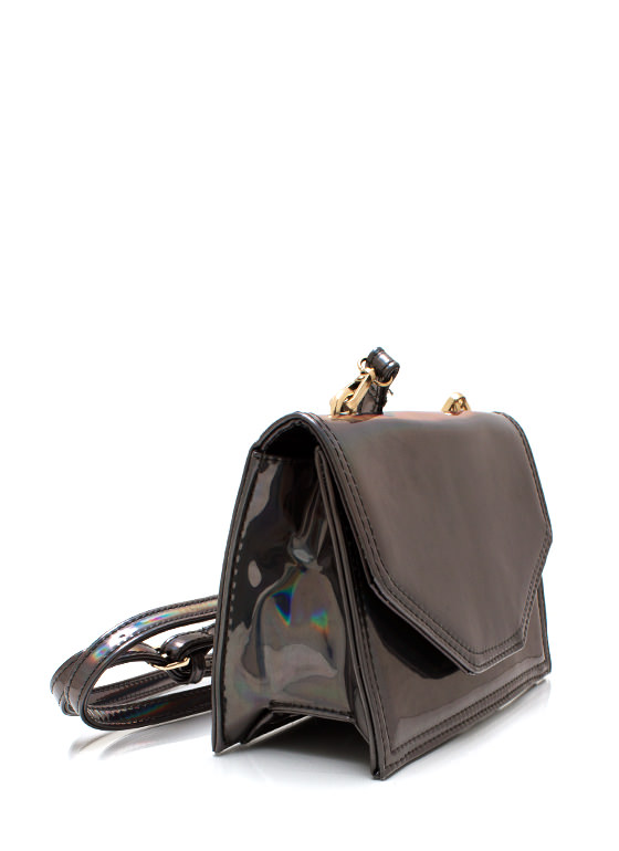 Space Jam Holographic Clutch GUNMETAL
