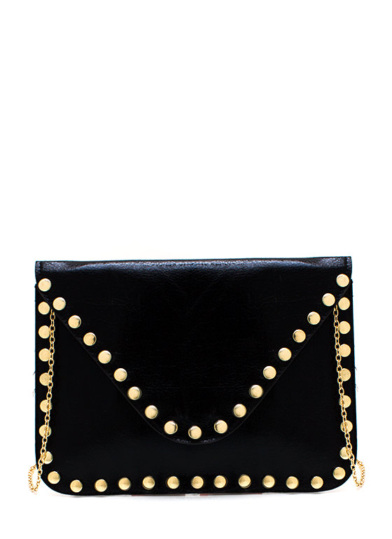 Edge Of Greatness Studded Clutch BLACKGOLD