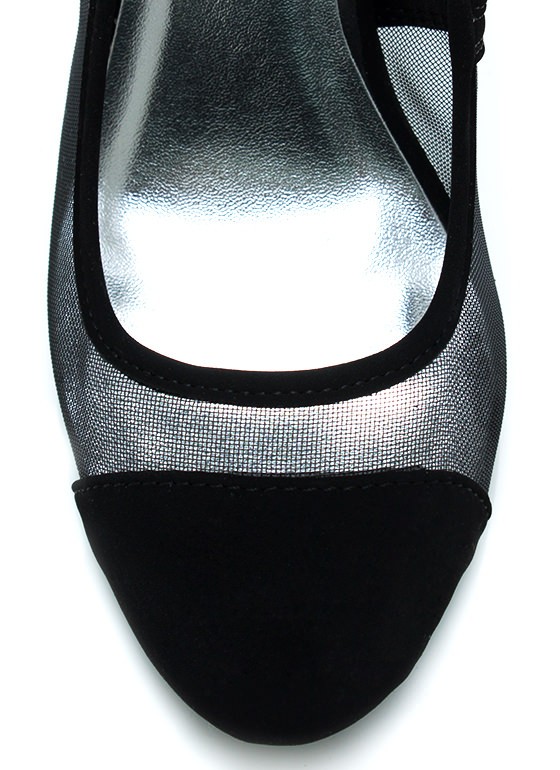 I Mesh You Cap Toe Pumps BLACK