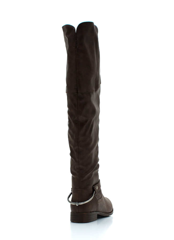 Pedal To The Metal Riding Boots BROWN