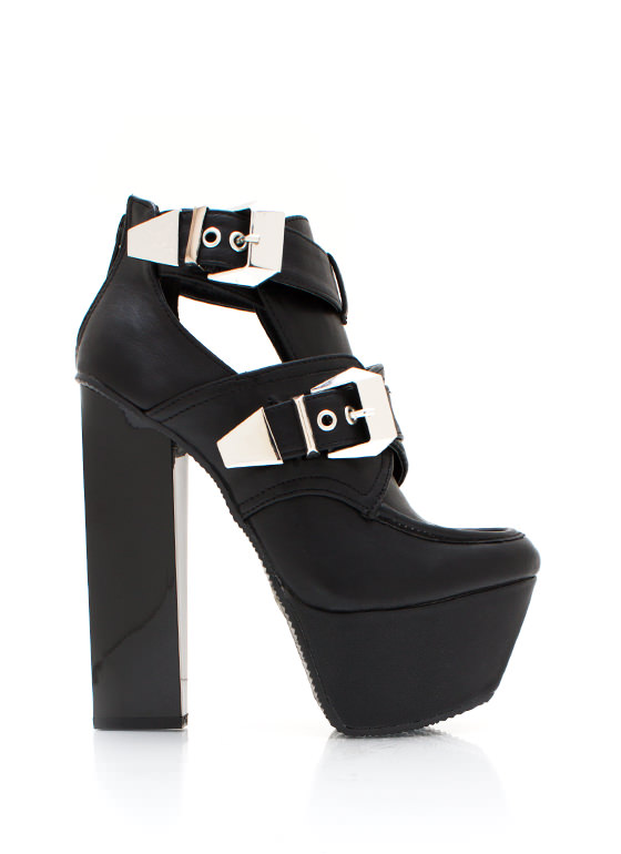 Get Creepy Buckle Booties BLACK