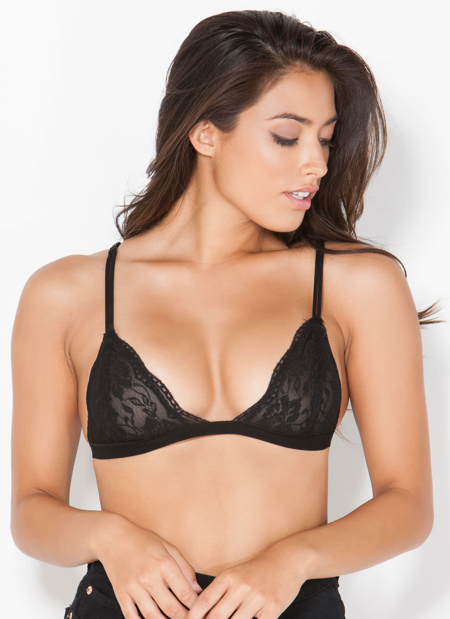 Lovely Lady Lace Bralette BLACK