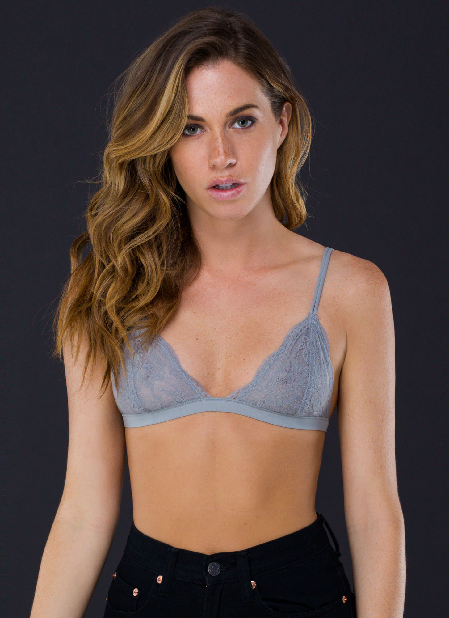 Lovely Lady Lace Bralette GREY